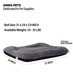 ANWA Dog Bed Medium Size Dogs, Washable Dog Crate Bed Cushion, Dog Crate Pad Large Dogs