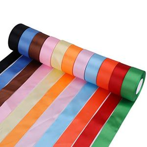 Trimming Shop 300 Yards Double Sided Satin Polyester Ribbon Rolls for Fabric, DIY Art & Craft, Bows, Gift Wrapping, Wedding Decorations (40mm Wide, Pack of 11 Colours) 41nqxVk 2BigL