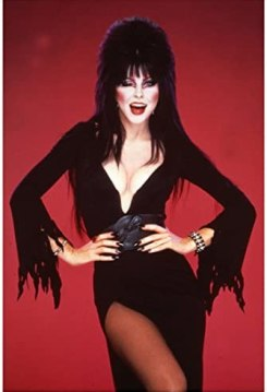 Elvira 8x10 Inch Photo Elvira: Mistress of the Dark Hands on Hips Winking Red Background kn at Amazon's Entertainment Collectibles Store