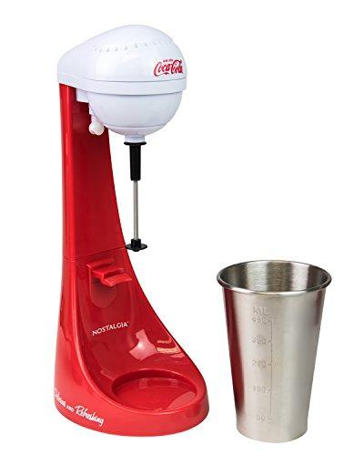 Nostalgia MLKS100COKE Coca-Cola Limited Edition Two-Speed Milkshake Maker, 16 oz, Cookie Red