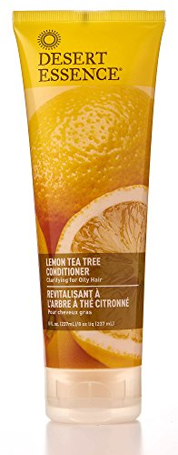 Desert Essence Lemon Tea Tree Conditioner - 8 Fl Oz - Soft & Silky - Soothes Scalp - Strengthens Hair - Nourishing & Revitalized - Vitamin B5 - Shea - Certified Organic
