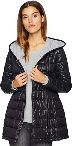 Sam Edelman Women's Asymmetrical Jersey Lined Jacket Black Medium