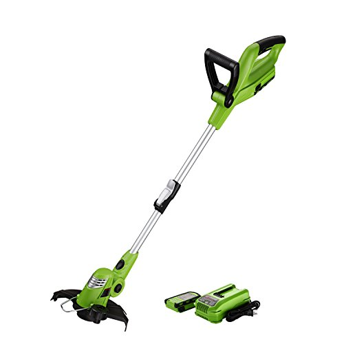 Best Partner Light Weight Cordless String Trimmer Edger, 18V Lithium Lon, 10-Inch, Auto Single-Line Feed