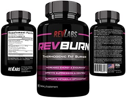 Rev Labs | Rev Burn | Thermogenic Fat Burner | The #1 Ground Breaking Fat Burning Amplifier Diet Pill for Men and Women, Carb Blocker & Appetite Suppressant, Weight Loss Pills, 60 Cap 8