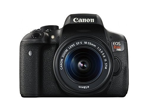Canon EOS Rebel T6i Digital SLR with EF-S 18-55mm is STM Lens – Wi-Fi and NFC Enabled (Certified Refurbished)