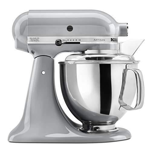 KitchenAid KSM150PSMC Artisan Series 5-Qt. Stand Mixer with Pouring Shield - Metallic Chrome