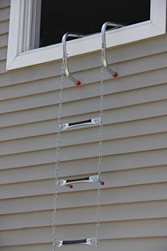 Saf-Escape 2 Story 15' Portable Escape Ladder - Fits up to 14