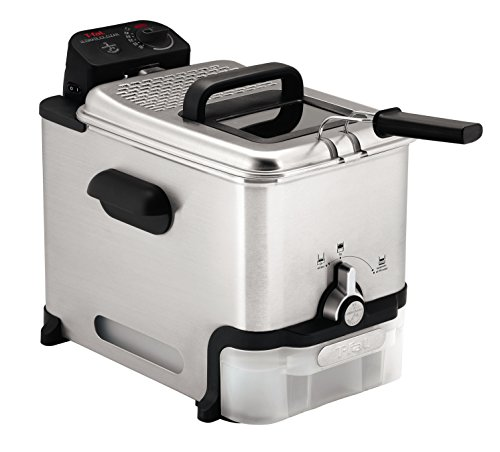 T-Fal 7211002145 FR8000 Deep Basket, Fryer with Oil Filtration, Easy to Clean, 2.6 Pounds, Silver
