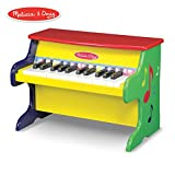 """Melissa & Doug Learn-to-Play Piano, Musical Instruments, Solid Wood Construction, 25 Keys and 2 Full Octaves, 11.5"""" H x 9.5"""" W x 16"""" L"""