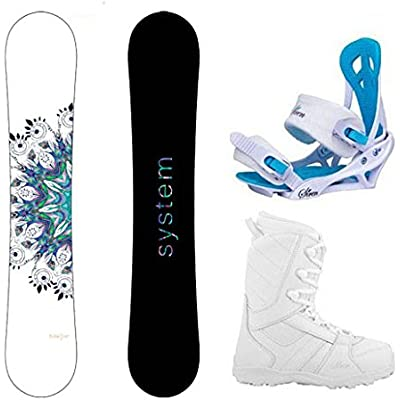 System 2021 Flite Snowboard w/Mystic Bindings and Lux Boots Women's Complete Snowboard Package