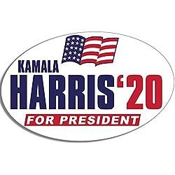 American Vinyl Oval Kamala Harris '20 for President Sticker (Bumper Vote 2020 Democrat DNC)