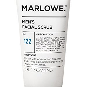 MARLOWE. No. 122 Men's Facial Scrub 6 oz | Light Daily Exfoliating Face Cleanser | Fresh Sandalwood Scent | Includes… 2