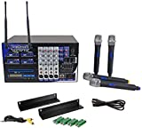 Vocopro PA-MAN II 4 Channel PA System, Amplifier/Mixer/CD-G Player/4 UHF Mics