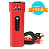 WEEGO 66.1 Jump Starting Power Pack (NEW 2019 Model) 2500 Peak 600 Cranking Amps High Performance Lithium Ion Jump Starter Quick Charges Phones 600 Lumen LED Flashlight Water Resistant