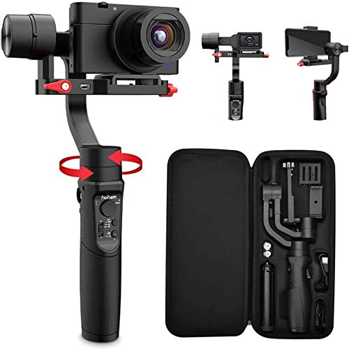 Hohem-All-in-1-3-Axis-Gimbal-Stabilizer-for-Compact-CamerasAction-CameraSmartphone-w-600-Inception-Mode-09lbs-Payload-for-iPhone-11-Pro-MaxGopro-Hero-8Sony-Compact-Camera-RX100-iSteady-Multi
