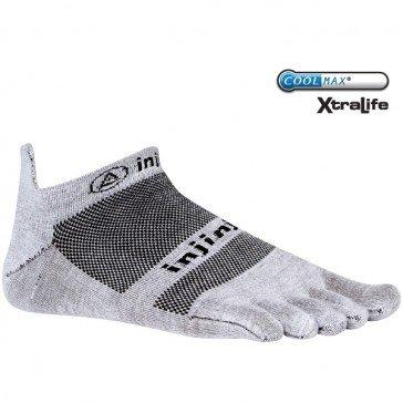 Injinji Run 2.0 Lightweight No Show Toe Socks 3 Pack (Gray, Small)