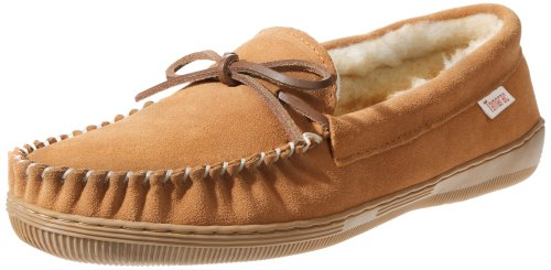 Tamarac by Slippers International 7161 Men's Camper Moccasin,Tan,11 M US