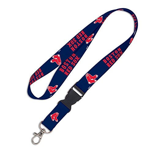 WinCraft MLB Boston Red Sox 37343011 Lanyard with Detachable Buckle, 3/4'