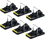 Aspectek Printer Mouse, Reusable and Easy to Use Snap Traps, Pack of 6, Black