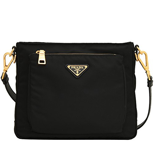 "Prada Nylon Tessuto Saffiano Leather Cross Body Messenger Bag Measurements: 21.5 inches. -Measurements: 9.5"" x 2.75"" x 7.75"" (lwh) in Inches Includes authenticity cards and Prada dust bag. -Made In Ita"