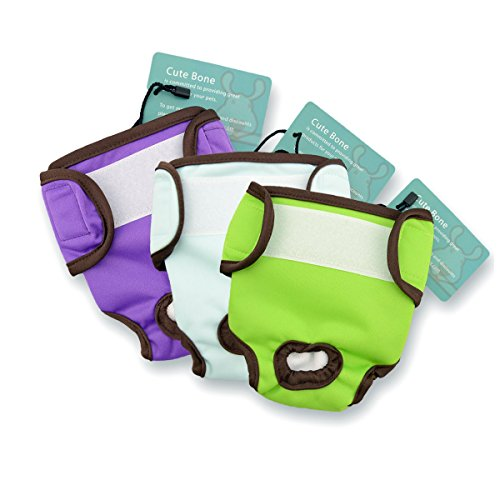 CuteBone Female Dog Diapers Medium, 3 Pack D01M