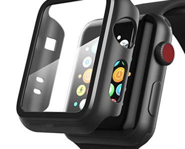OJOS Watch Case for Apple Watch 44mm Series 6   Series 4   Series 5, Matte Black