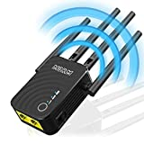 MSRM US754 Long Range Extender 1200Mbps WiFi Repeater Signal Amplifier Booster with 4 Band Antennas Complies 802.11a/b/n/g/ac WiFi Extender