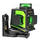Huepar 3x360 Laser Level 3D Green Beam Self-leveling Cross Line Laser Three-Plane Leveling and Alignment Laser Tool -Two 360° Vertical and One 360° Horizontal Line with USB Charging Port GF360G-NP