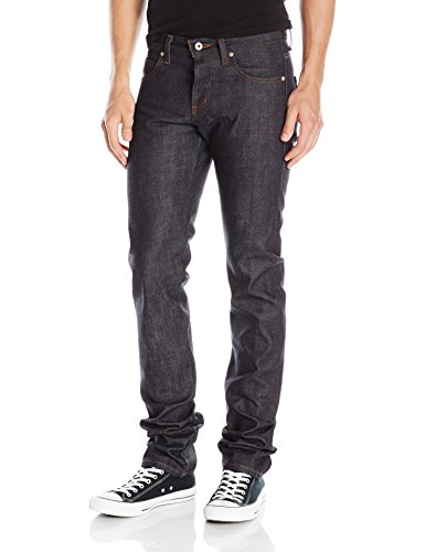 41oXaH7hWYL Super-skinny jean in indigo-tone selvedge denim featuring contrast stitching and five-pocket styling Zip fly with button