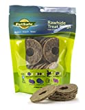 PetSafe Busy Buddy Refill Ring Dog Treats for select Busy Buddy Dog Toys, Natural Rawhide, Size B
