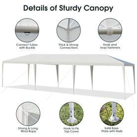 Tangkula-10-x-30-Outdoor-Waterproof-Gazebo-Canopy-Tent-Heavy-Duty-Large-Pavilion-WStrong-Connection-Stakes-and-Ropes-for-Party-Wedding-Events-Beach-BBQ-Easy-to-Assemble-White