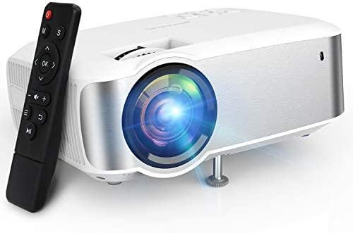 Projector, TOPVISION 1080P Supported Video Projector with 5500L, 60,000 Hrs Home Projector for Indoor/Outdoor with Speakers, Compatible with Fire TV Stick, PS4, HDMI, VGA, AV, USB