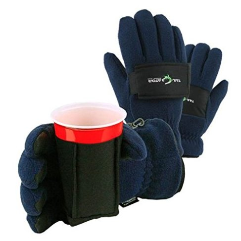 TailGatorTM Beverage Glove - The Ultimate Cold Weather Party Glove - Blue, Medium
