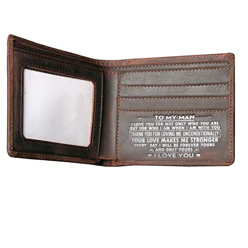 Men's Wallets,Minimalist Biflod Leather Wallet,Silm Purses,Gift for men at Birthday,Valentine's Day,Anniversary