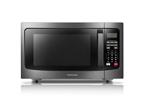 Toshiba EM131A5C-BS Microwave Oven, 1.2 cu. ft, Black Stainless Steel