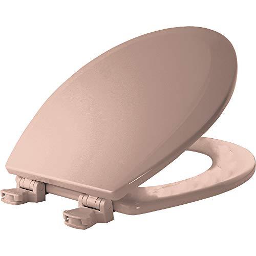 Bemis 500EC 063 Wood Round Toilet Seat With Easy Clean & Change Hinge, Venetian, Pink