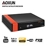 GT Media V8 Nova DVB-S2 Satellite Decoder Digital TV Receiver with Built-in Wi-Fi/SCART / 1080P Full HD/FTA Support CCcam, PVR Ready, Newcam, YouTube, PowerVu Dre Biss Key by Aoxun