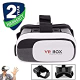 Exxelo 3D VR Headset Virtual Reality Box | Adjustable Lens and Strap | Suitable for All Smartphones
