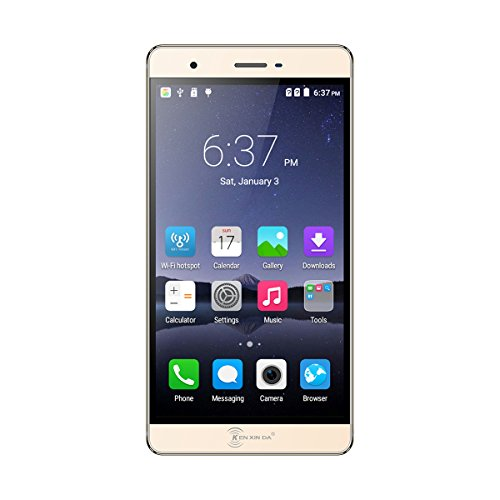 KENXINDA R7s Android 5.1 Unlocked Smartphone 5.5'' Fingerprint Scanner Cell Phone (Gold)