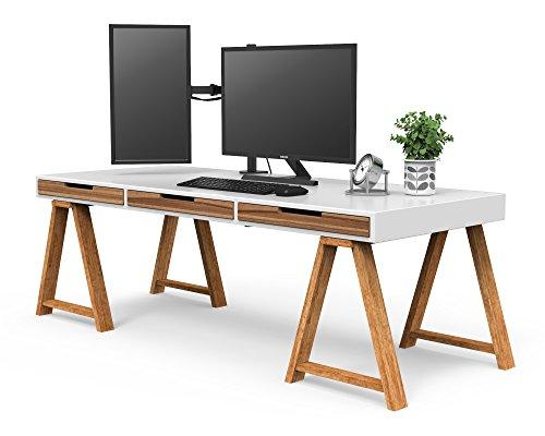 "41oo5mx1rvL - 1home Single Arm Desk Mount Ergonomic LCD LED Computer Monitor Bracket Stand Tilt Swivel Rotation 13""-32"" Screen TV | VESA Dimensions: 75x75-100x100"