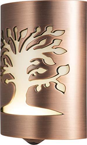 GE Tree of Life LED CoverLite Night Plug-in, Light Sensing, Dusk to Dawn Sensor, Energy-Efficient, Decorative, Ideal for Hallway, Kitchen, Bathroom, Bedroom, Office, Oil Rubbed Bronze, 29846, 1 Pack,