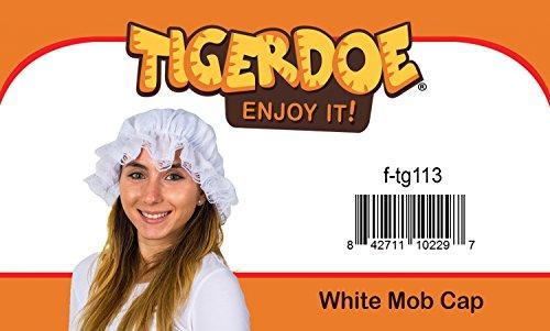 Tigerdoe-Mob-Cap-White-Mop-Hat-Bonnet-Colonial-Costume-Accessory-Revolutionary-Dress-up