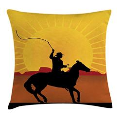 Cowboy on Horse Pillow Cover