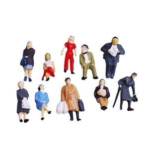 Xiton 24pcs Painted Model Train People Figures Scale HO (1 to 87) 41ovPTUvdHL
