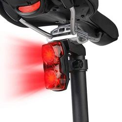 Inditradition Bicycle 2-in-1 Flash Tail Light | Inbuilt 2 Laser & 5 LEDs, Multi-Functional 7 Modes (Red)