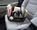 Rubbermaid 3302-20 Automotive Portable Tote Bin Organizer: Passenger Seat/Car Cargo Area Storage Caddy with Leakproof Bottom, Large