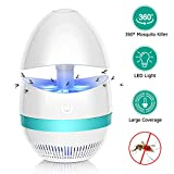 Bug Zappers, Electronic Indoor Mosquito Killer Lamp, Insect Killer, Safe USB Powered Mosquito Zapper LED Lamp with Built in Fan Mosquito Catcher Trap for Home Kitchen Bedroom Patio Yard Office