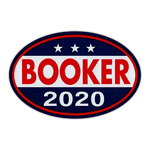 """Crazy Novelty Guy Oval Shaped Magnet - Cory Booker 2020 - Democrat President - Magnetic Bumper Sticker, Campaign Magnet - 6"""" x 4"""""""