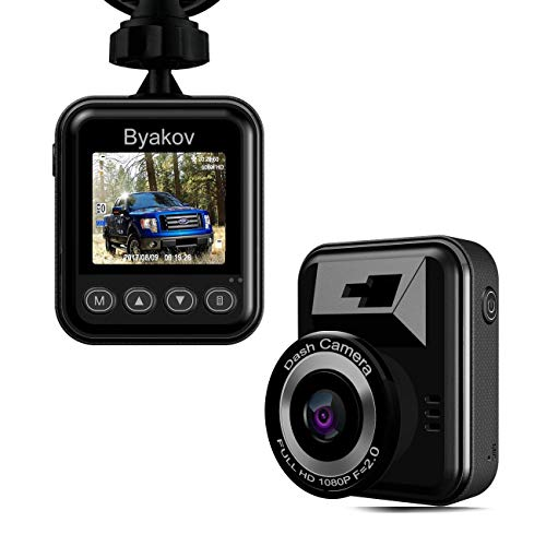 Dash Cam, Byakov Dash Camera: 1080P Full HD Car Driving Recorder Camera with 170° Wide Angle,1.5inch Screen, Motion Detection, G-Sensor, Loop Recording, Night Vision
