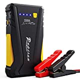 Ruperan Portable Jump Starter - 1500A 12V Car Battery Jump Starter (Up to 8.0L Gas or 6.0L Diesel) Phone Charger Power Pack with Jumper Cable, LED Flashlight